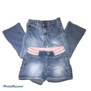 Girl's Set of Jordache Jeans and Shorts 4T